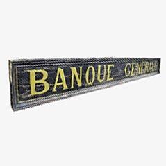 Señal de banco francesa antigua, década de 1900