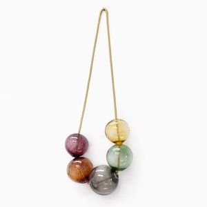 Small Brown Bubbles Wall Hanging by LaLouL & Corinne van Havre