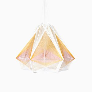 Sputnik Lampshade #9 Pink & Yellow by Julie Lansom
