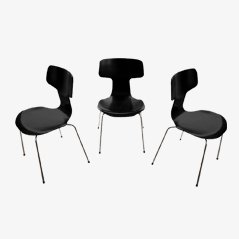 Model 3103 Chairs by Arne Jacobsen for Fritz Hansen, 1973, Set of 3