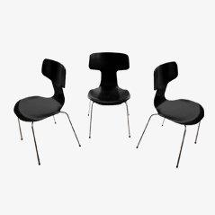 Modell 3103 Stühle von Arne Jacobsen für Fritz Hansen, 1973, 3er Set