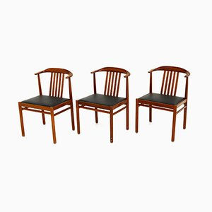 Swedish Teak Dining Chairs, 1960s, Set of 3
