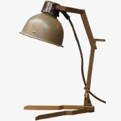 Industrielle Militärlampe um 1950