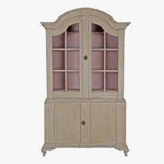 Swedish Rococo Glazed Cabinet, 18th Century