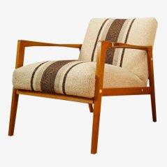 Gestreifte Vintage Armlehnstühle, 1960er, 2er Set
