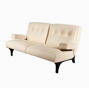 Leather Sofa By Eugenio Gerli For Tecno, 1960s
