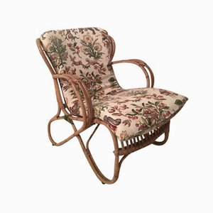 Dutch Rattan Chair with Cushion