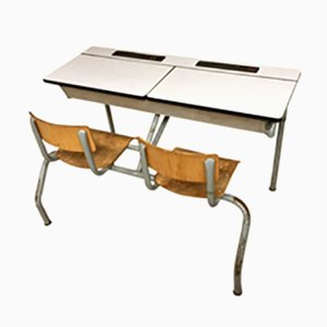 Vintage Industrial School Desk, 1960s