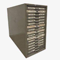 Mueble industrial de Kardex Remington Rand, años 60