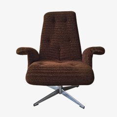 Brown Swivel Chair from Goldsiegel, 1960s