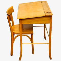 Children's Desk & Chair by Baumann, 1950