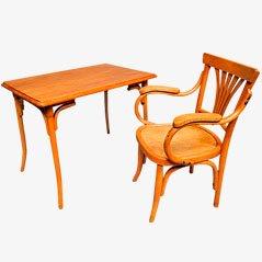 Vintage Kinderstuhl und Schreibtisch aus Holz
