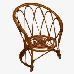Chaise pour Enfant Vintage en Rotin, 1960s