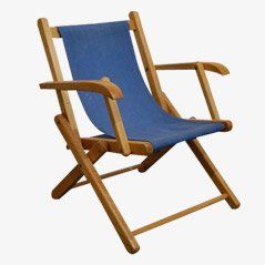 Vintage Children's Deck Chair, 1960s