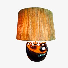 Lampe de Bureau avec Abat-Jour Corde, France, 1950s
