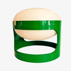 Green KD27 Table Lamp by Joe Colombo for Kartell, 1967
