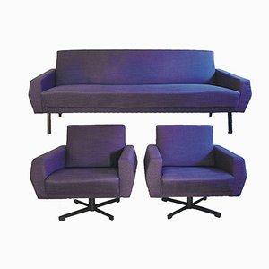 Sitzgruppe von Dieter Wäckerlin, 1960er, 3er Set