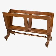 Antique English William IV Folio Stand, 1840s