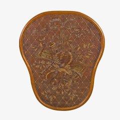 Antike Bestickte Leder-Wandtafel aus Frankreich, 19. Jahrhundert
