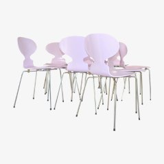 Pink Ant Chairs by Arne Jacobsen for Fritz Hansen, 1970s, Set of 4