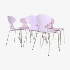 Pinke Ant Stühle von Arne Jacobsen für Fritz Hansen, 1970er, 4er Set