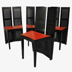 Lubekka Chairs by Andrea Branzi for Cassina, Set of 4