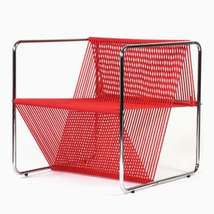 Chaise M100 Chromed Edition Rouge par RUIZSOLAR