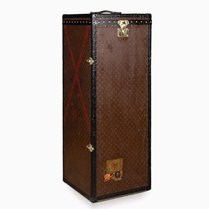 Antique French Male Penderie Trunk by Louis Vuitton for Louis Vuitton, 1910s