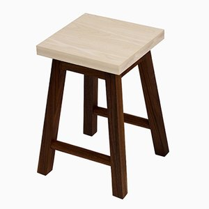 Ash & Walnut Stool Two by Another Country