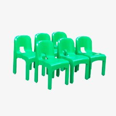 Universale N. 4960 Dining Chairs by Joe Colombo for Kartell, 1960s, Set of 6