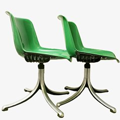 Modus Visitor Chairs by Osvaldo Borsani for Tecno, 1975, Set of 2