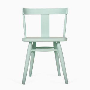 Maun Windsor Side Chair in Matte Blue by Patty Johnson