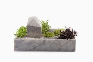 Mökki Lamp Pot in Carrara Marble by Caterina Moretti