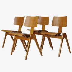 Hillestak Chairs by Robin Day for Hillie, 1950s, Set of 4