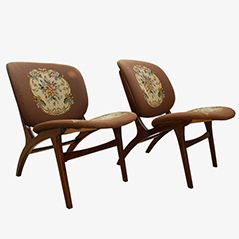 Vintage Danish Lounge Chair, 1960s, Set of 2