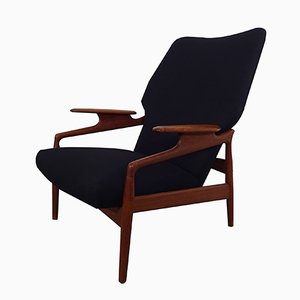 Vintage Danish Adjustable Teak Lounge Chair
