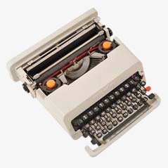 Grey Valentine Portable Typewriter by Ettsore Sottsass and P. King for Olivetti, 1970s