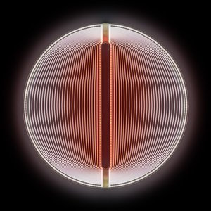 Sculpture Lumineuse Thanks for the Planets Rouge-Blanc par Arnout Meijer Studio