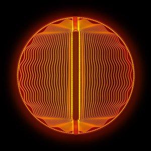 Thanks for the Planets Lichtskulptur in Rot-Warmweiß von Arnout Meijer Studio