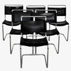 Cantilever Chairs by Marcel Breuer for Knoll, Set of 6