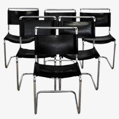 Freischwingende Stühle von Marcel Breuer für Knoll, 6er Set