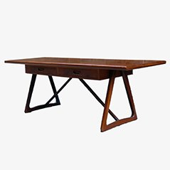 Table Basse Mid-Century Large en Teck, Danemark, 1960s
