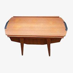 Mid Century Danish Sewing Box Table, 1950s