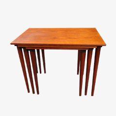 Mid-Century Danish Teak Nesting Tables, Set of 3