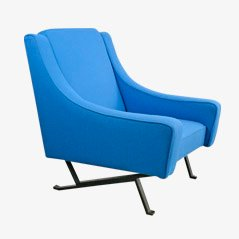 Italian Lounge Chair with Kvadrat Fabric, 1960s