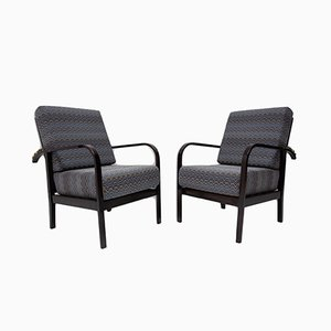 Adjustable Beech Armchairs by Jan Vaněk for UP, 1930s, Set of 2