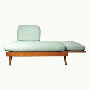 Sofá cama Mid-Century de tela de agave, años 60