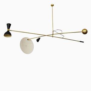 Lámpara de techo a contrapeso italiana Mid-Century, años 60