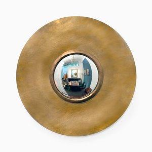 Round Bronze Mirror by Hervé Van der Straeten