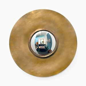 Round Bronze Mirror par Hervé Van der Straeten